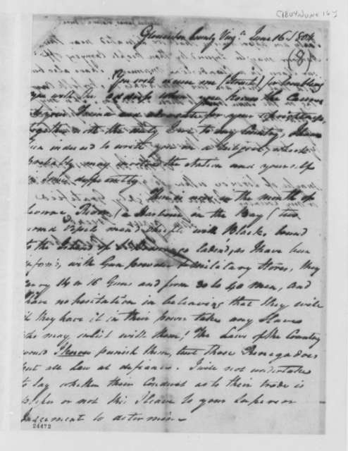 James Belsches to Thomas Jefferson, June 16, 1804