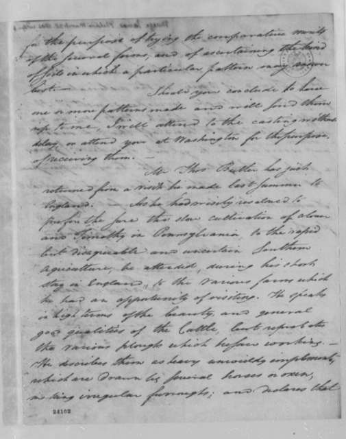 James Mease to Thomas Jefferson, March 28, 1804