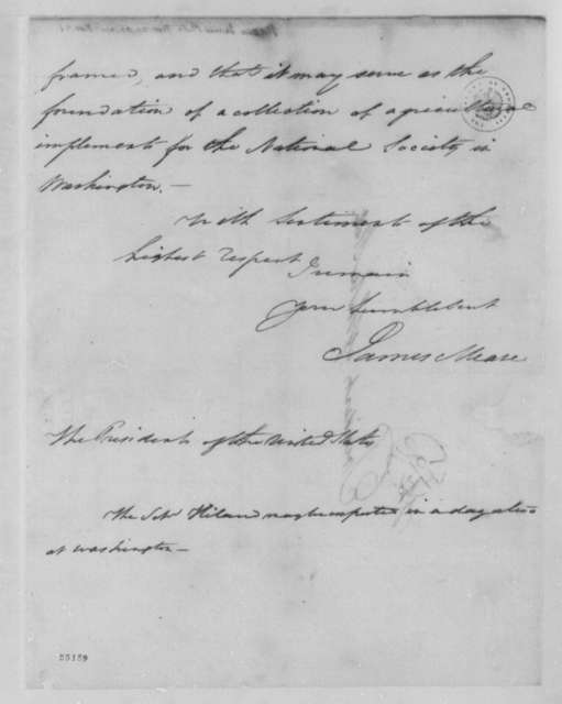 James Mease to Thomas Jefferson, November 19, 1804