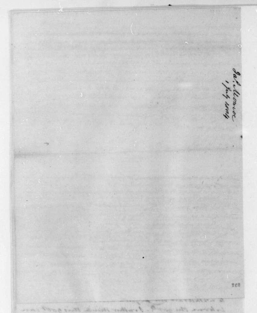 James Monroe to James Madison, July 1, 1804.