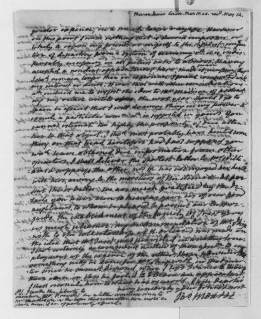 James Monroe to Thomas Jefferson, March 15, 1804