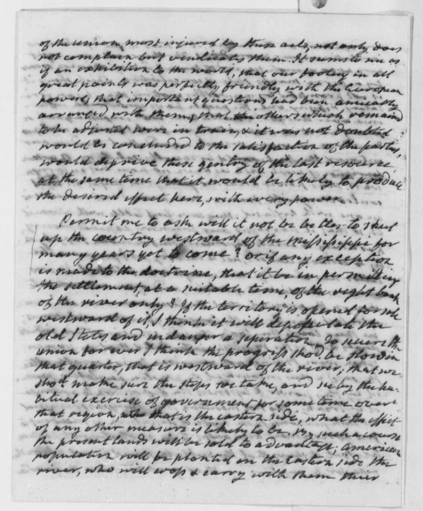 James Monroe to Thomas Jefferson, September 25, 1804
