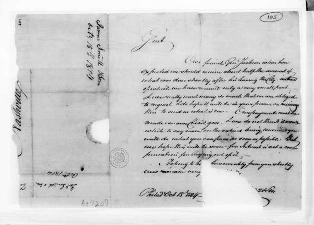 James Smith to Andrew Jackson, October 15, 1804