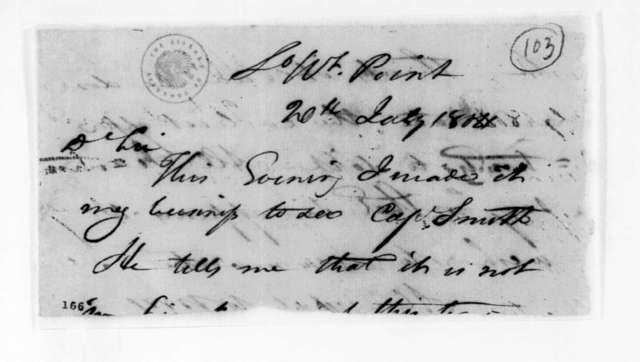 John Overton to Andrew Jackson, July 20, 1804