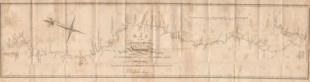 Map of the Washita river in Louisiana from the Hot Springs to the confluence of the Red River with the Mississippi /
