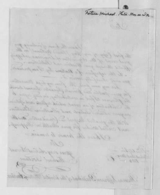 Michael Fortune to Thomas Jefferson, May 14, 1804