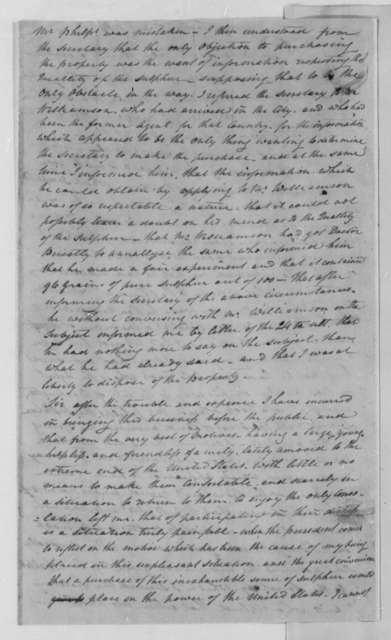 Mountjoy Bayley to Thomas Jefferson, January 3, 1804
