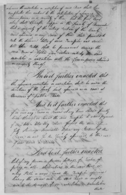 North Carolina General Assembly, December 18, 1804, Acts on Turnpike