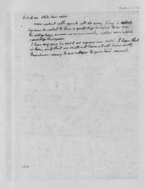 Osage Chief White Hair to Thomas Jefferson, July 16, 1804
