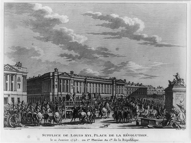 Supplice de Louis XVI, Place de la Révolution, le 21 Janvier 1793; ou 1er Pluviôse An 1er de la République / Swebach Desfontaines inv. & del. ; Berthault sculps.