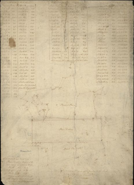 [Survey map of land tracts in Washington D.C. named Pleasant Plains, Plain Dealing and Mount Pleasant] /