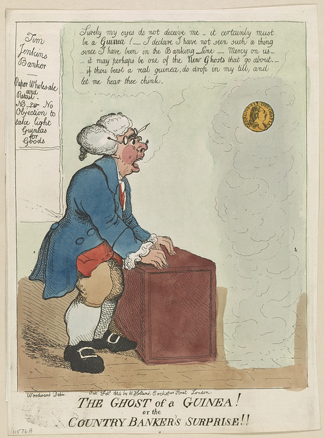 The ghost of a guinea! or the country banker's surprise!! / Woodward, delin.