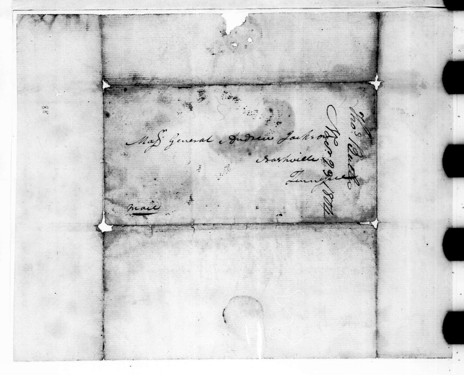 Thomas Butler to Andrew Jackson, November 20, 1804