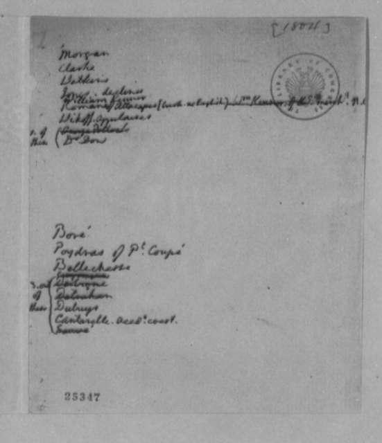 Thomas Jefferson, 1804, List of Names