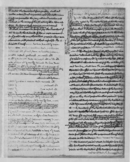 Thomas Jefferson, March 25, 1804, Louisiana Laws and Statutes