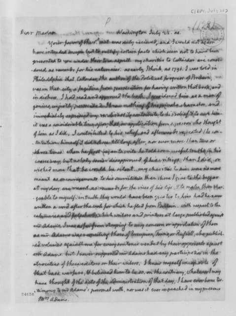 Thomas Jefferson to Abigail Smith Adams, July 22, 1804