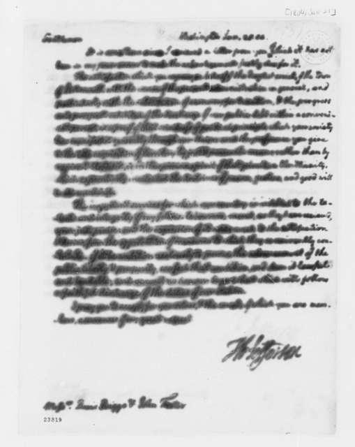 Thomas Jefferson to David Briggs and John Foster, January 20, 1804