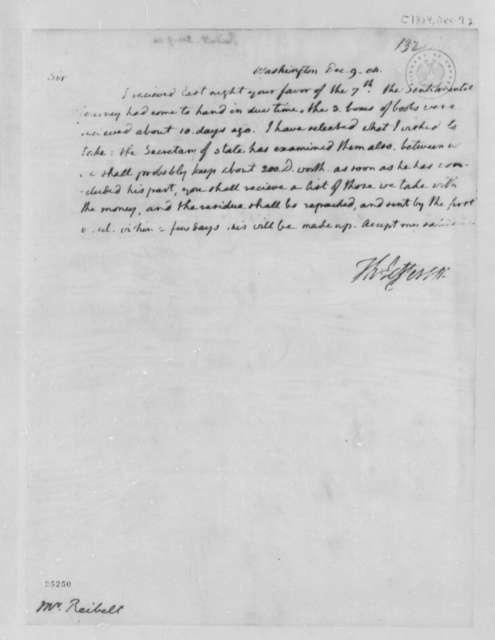 Thomas Jefferson to J. Philip Reibelt, December 9, 1804
