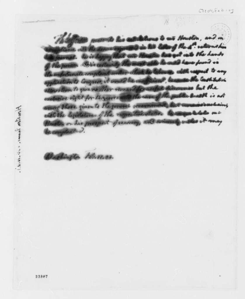 Thomas Jefferson to James Houston, February 10, 1804