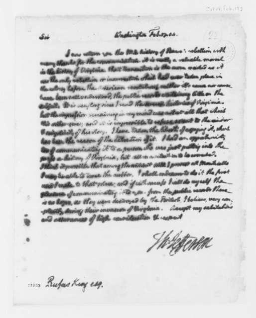 Thomas Jefferson to Rufus King, February 17, 1804