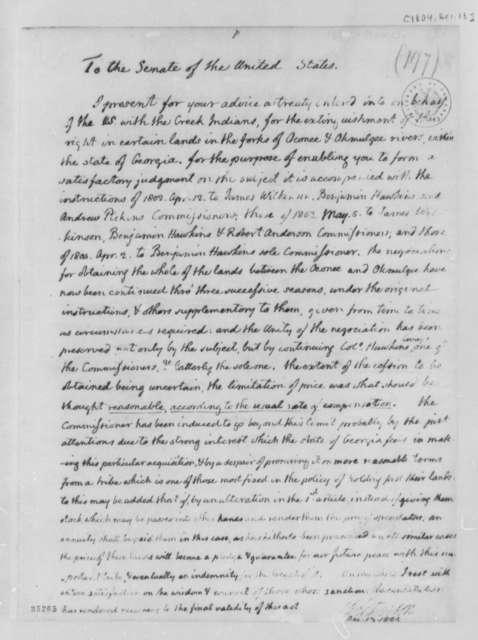 Thomas Jefferson to Senate, December 13, 1804