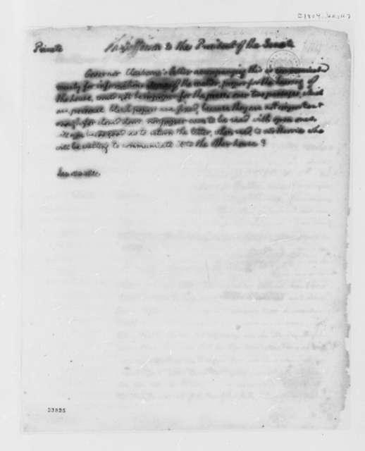 Thomas Jefferson to Senate, January 24, 1804