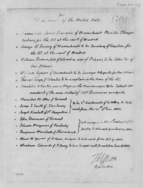 Thomas Jefferson to Senate, November 13, 1804