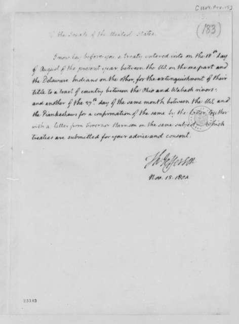 Thomas Jefferson to Senate, November 15, 1804