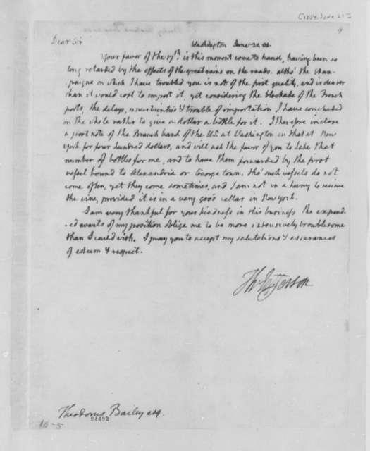 Thomas Jefferson to Theodorus Bailey, June 21, 1804