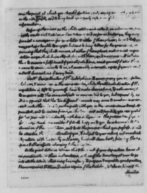 Thomas Jefferson to Thomas Freeman, April 14, 1804, Partly Illegible; Recipient is Samuel or Thomas Freeman