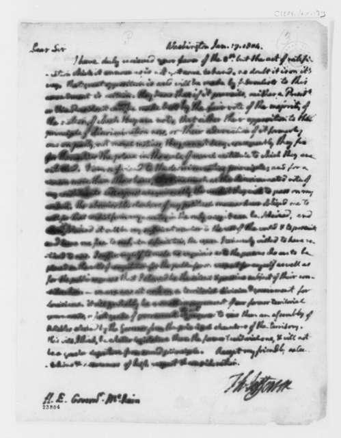 Thomas Jefferson to Thomas McKean, January 17, 1804