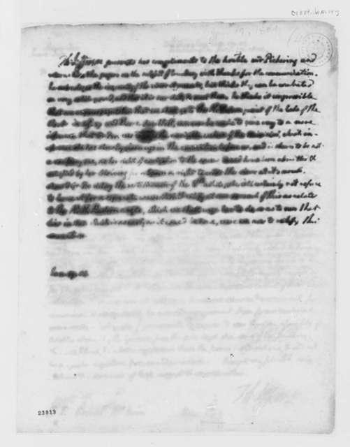 Thomas Jefferson to Timothy Pickering, January 19, 1804