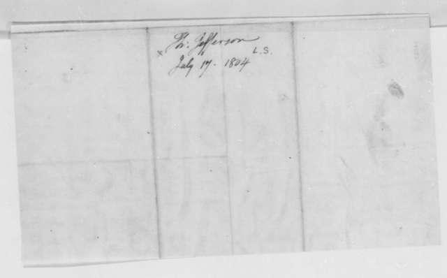 Thomas Jefferson to William Dunbar, July 17, 1804, and Draft