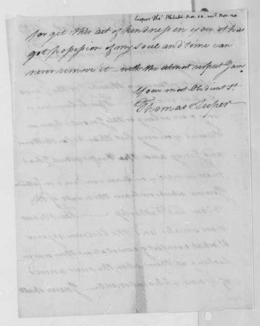 Thomas Leiper to Thomas Jefferson, November 1804, Received November 20th