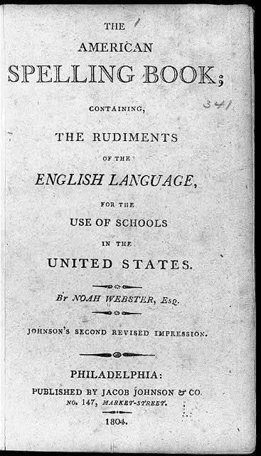 [Title page: American Spelling Book, by Noah Webster, Philadelphia, 1804]