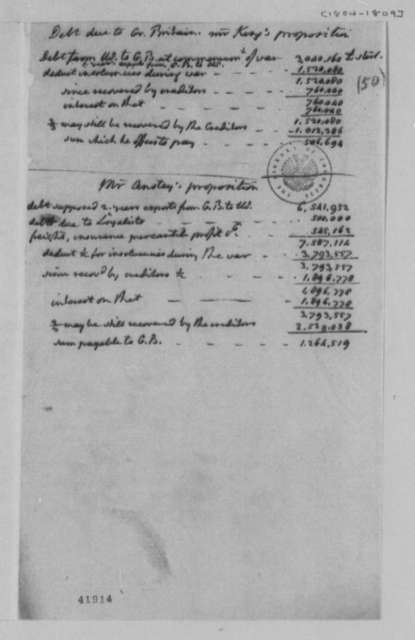 Treasury Department, 1804, Propositions on Great Britain Debt