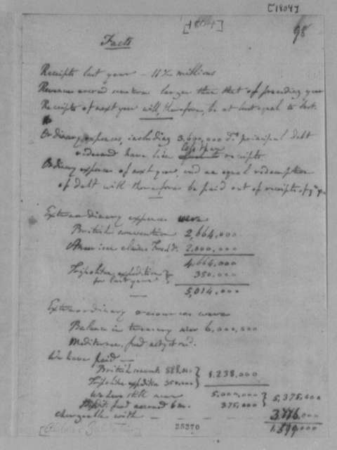 Treasury Department, 1804, Statement of Expenditures