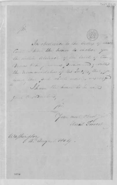 Uriah Forrest to Thomas Jefferson, August 11, 1804