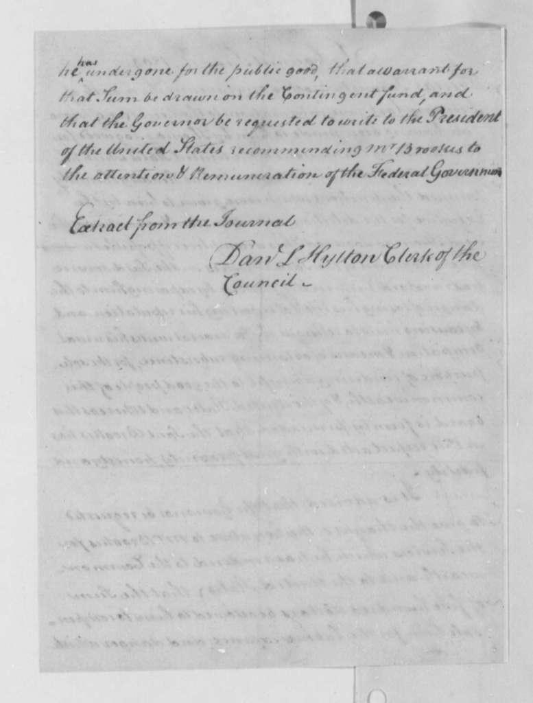 Virginia Council to Samuel Brookes, June 16, 1804, Resolution