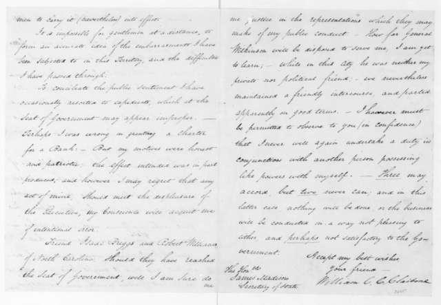 William C. C. Claiborne to James Madison, April 25, 1804.
