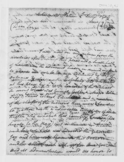 William Cocke to Thomas Jefferson, July 5, 1804