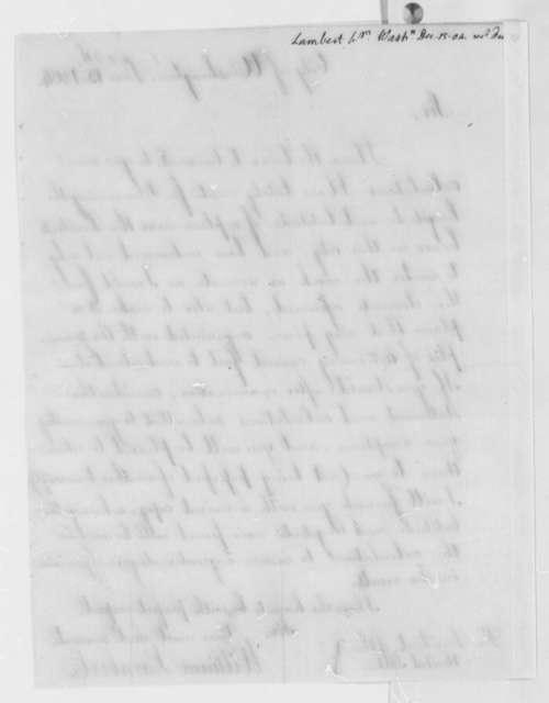 William Lambert to Thomas Jefferson, December 15, 1804