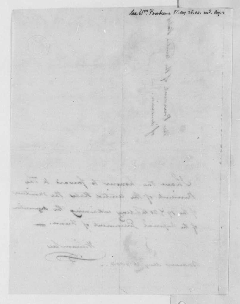 William Lee to Thomas Jefferson, May 26, 1804