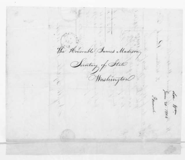 William Pennock to James Madison, September 12, 1804. With account.