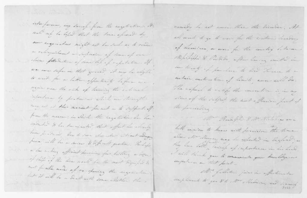 Albert Gallatin to James Madison, August 6, 1805.