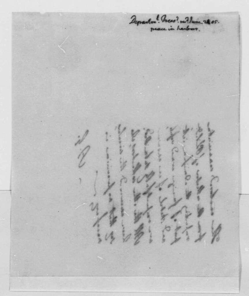 Albert Gallatin to Thomas Jefferson, June 24, 1805