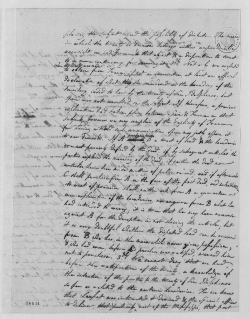 Albert Gallatin to Thomas Jefferson, September 12, 1805, with Observations