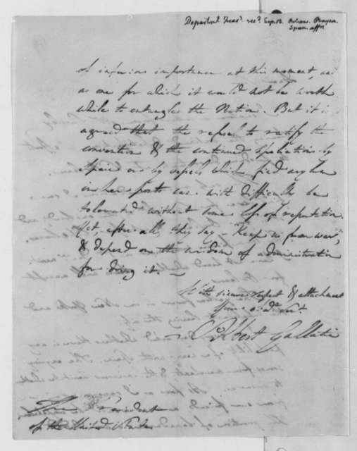 Albert Gallatin to Thomas Jefferson, September 13, 1805
