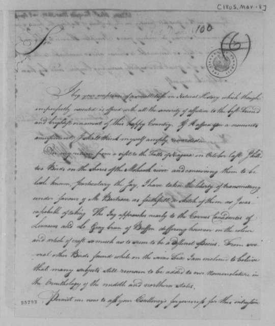 Alexander Wilson to Thomas Jefferson, March 18, 1805