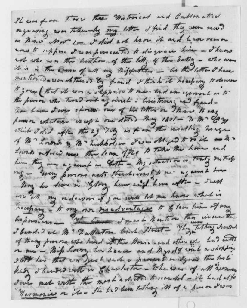 Anonymous to Thomas Jefferson, June 22, 1805